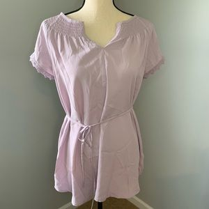 Purple maternity shirt from Motherhood Maternity